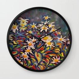 Mom's White Daisies Wall Clock