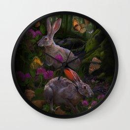 The Hare Wall Clock