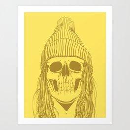 Skull Girl 3 Art Print