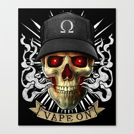 Vaping Skull - Vape On - Cloud Chaser - Vaper Canvas Print