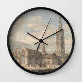 "J.M.W. Turner ""North East View of Grantham Church, Lincolnshire"" Wall Clock"