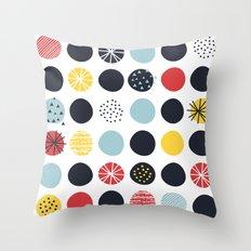Funky Polka dots (1) Throw Pillow