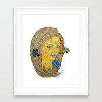 lorde Framed Art Prints featuring Lorde by Montana