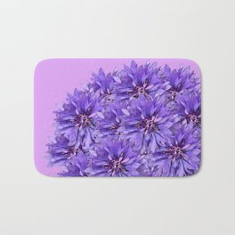 Purple Flower Ball Illustration - Lilac Background #decor #society6 #buyart Bath Mat