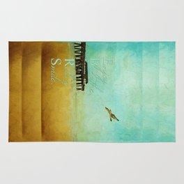 Enjoy Breathe Relax Smile ~ Tybee Island Pier ~ Ginkelmier Inspired Rug