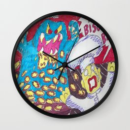 Beware, The Biscuit Beast! Wall Clock