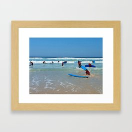 Surf school Framed Art Print