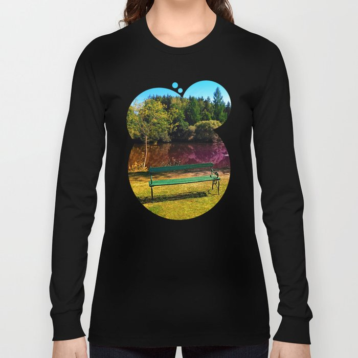 Bench at the pond Long Sleeve T-shirt