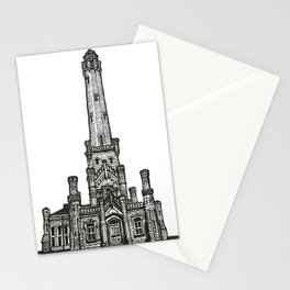 Triptych 2 - Water Tower - Original Drawing Stationery Cards