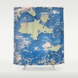 Abstract Blue Shower Curtain