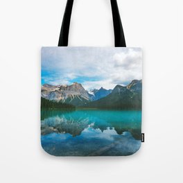 The Mountains and Blue Water - Nature Photography Tote Bag