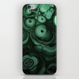 Curls and patterns of malachite iPhone Skin