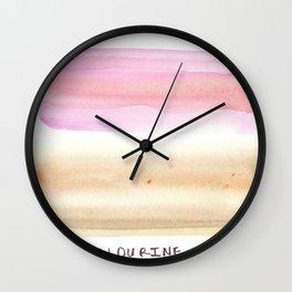 Peachy Creamy  |watercolour painting |minimalist watercolor Wall Clock