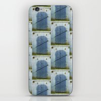 doors iPhone & iPod Skins featuring Closed Doors by Phil Perkins