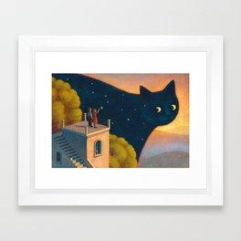 Eyes of the night Framed Art Print