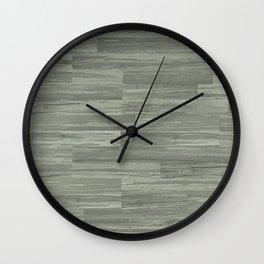 Green Bamboo Planks Wall Clock