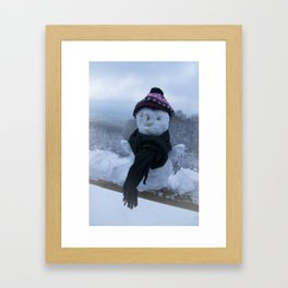 Silly Snowman Framed Art Print
