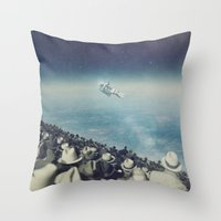 astronaut Throw Pillows featuring Astronaut by MiraRuido