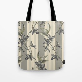 Flowers and Stripes One Tote Bag