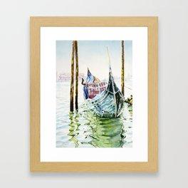 Gondola on the Lagoon Framed Art Print