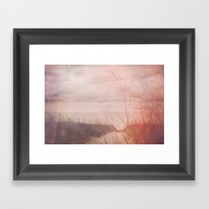 Love at the Beach Framed Art Print