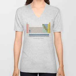 Moden Periodic Table Unisex V-Neck
