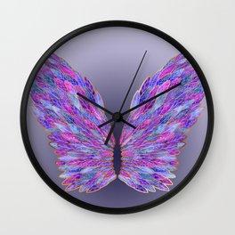 Purple Angel Wings Wall Clock