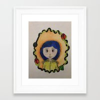 coraline Framed Art Prints featuring Coraline by Brittsa Me