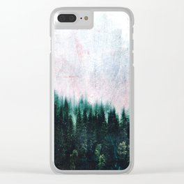 Deep dark forests Clear iPhone Case