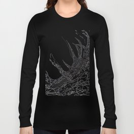 Elk  Dripped Abstract Pollock Style Long Sleeve T-shirt