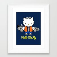 mcfly Framed Art Prints featuring Hello McFly by The Epic Effect