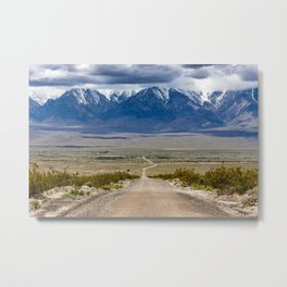 Owens Valley Road Metal Print