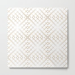 Gold geometric pattern Metal Print
