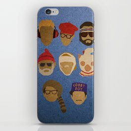 Wes Anderson Hats iPhone Skin