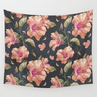 hibiscus Wall Tapestries featuring Hibiscus by 83 Oranges™