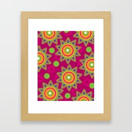 Moroccan Flower Wine Framed Art Print