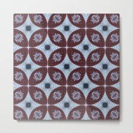American Folk Red & Blue No. 06 Metal Print
