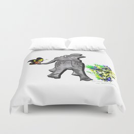 Ellie and the Butterfly Duvet Cover