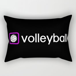 Volleyball (Purple) Rectangular Pillow