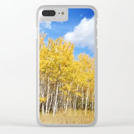 Autumn Explosion Clear iPhone Case