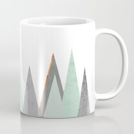 MINT COPPER MARBLE GRAY GEOMETRIC MOUNTAINS Coffee Mug