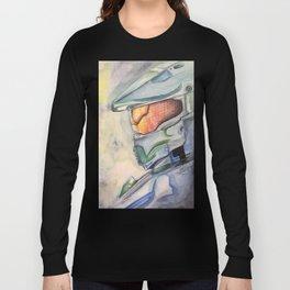 Halo gaming watercolor design Long Sleeve T-shirt