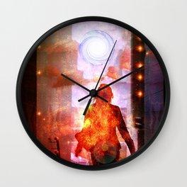 Her Infernal Exit Wall Clock