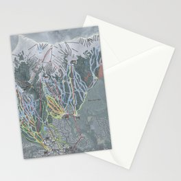Breckenridge Resort Trail Map Stationery Cards
