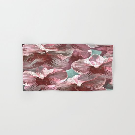 Vintage Pink Orchids Hand & Bath Towel
