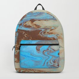 Dirty Acrylic Paint Pour 27, Fluid Art Reproduction Backpack