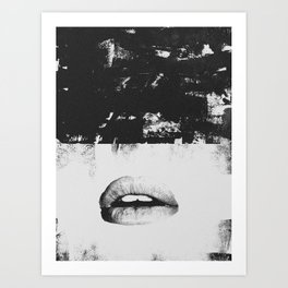 Dirty Kiss Art Print