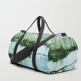 Wall with a river view Duffle Bag