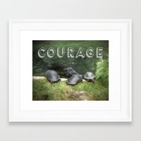 courage Framed Art Prints featuring Courage by Judith Lee Folde Photography & Art