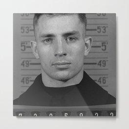 Jack Kerouac Naval Enlistment Mug Shot Metal Print